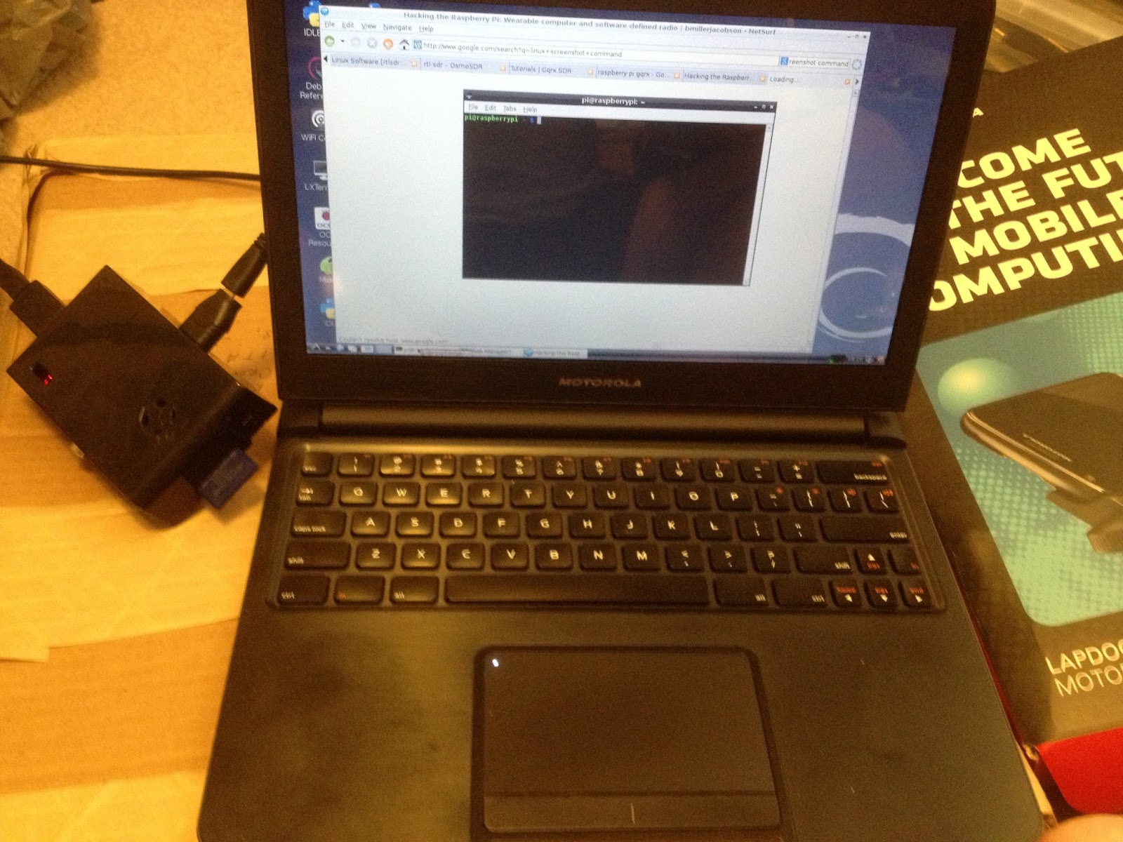 Electronic Diversions: Raspberry Pi and Motorola Atrix Lapdock and