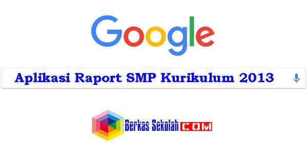 Aplikasi Raport SMP Kurikulum 2013