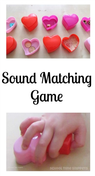 preschool five senses sound matching game