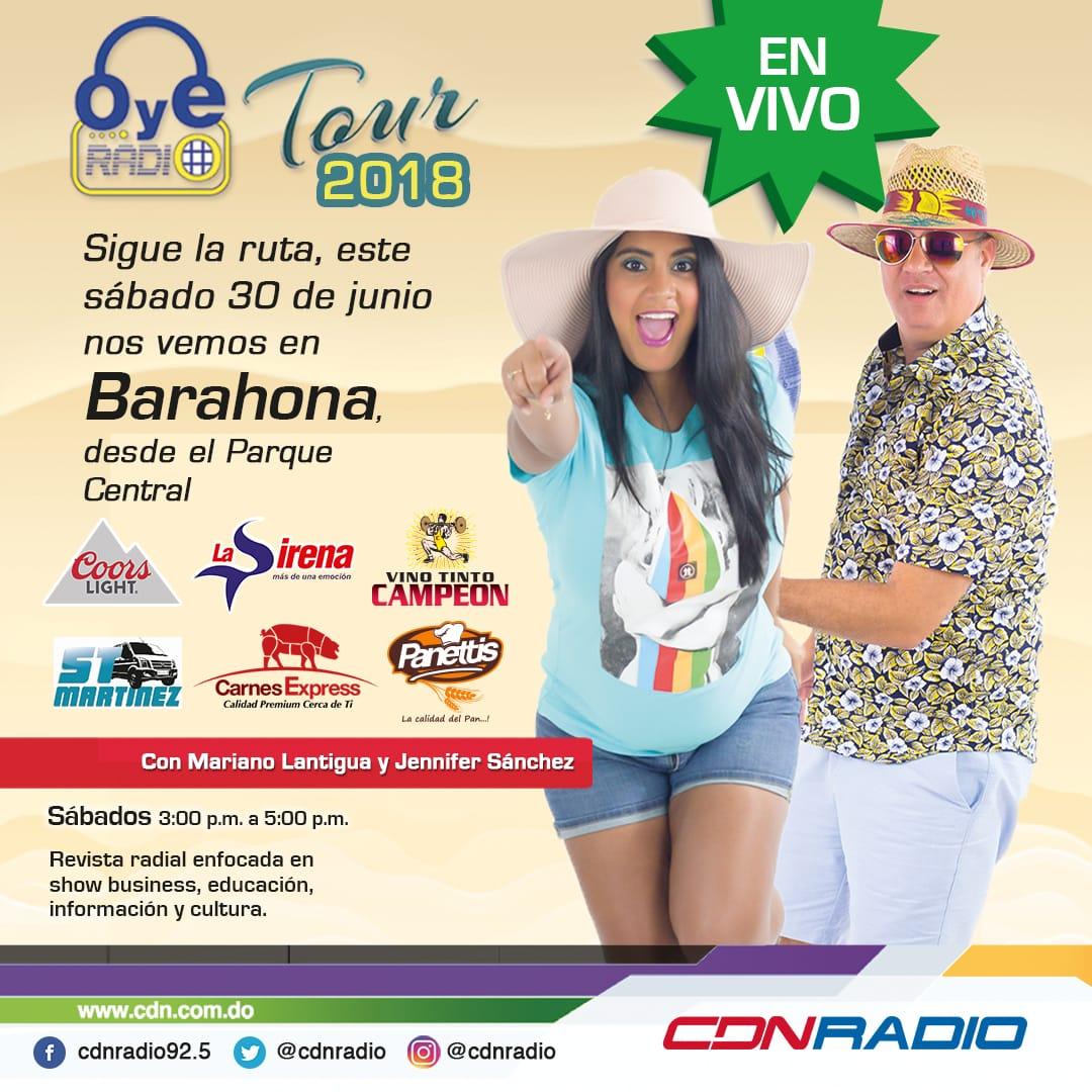 CDN RADIO 92.5 FM TRANSMITIRÁ  DESDE BARAHONA ESTE SABADO 30