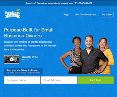 FreshBooks.com helps small businesses and freelancers to easily send invoices, tracking time and capture expenses