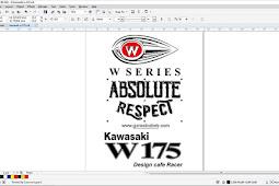 W 175 Series Kawasaki Absolute Respect Vector Logo Coreldraw