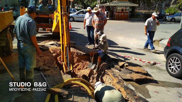 Διακοπή νερού στο Ναύπλιο από σοβαρή βλάβη στο δίκτυο της ΔΕΥΑΝ