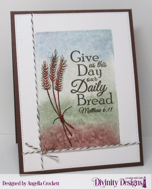 Divinity Designs Wheat and Pierced Rectangles Dies, Card Designer Angie Crockett