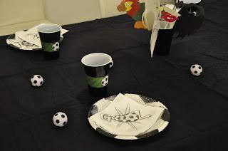 decotación mesa fiesta futbol