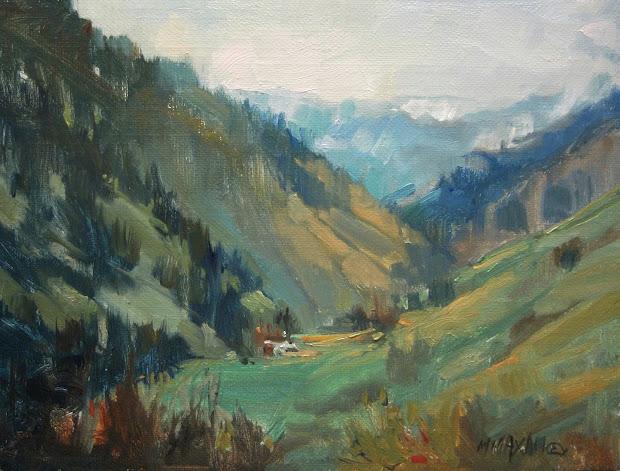 Mary Maxam - Paintings Mountain Views Painting
