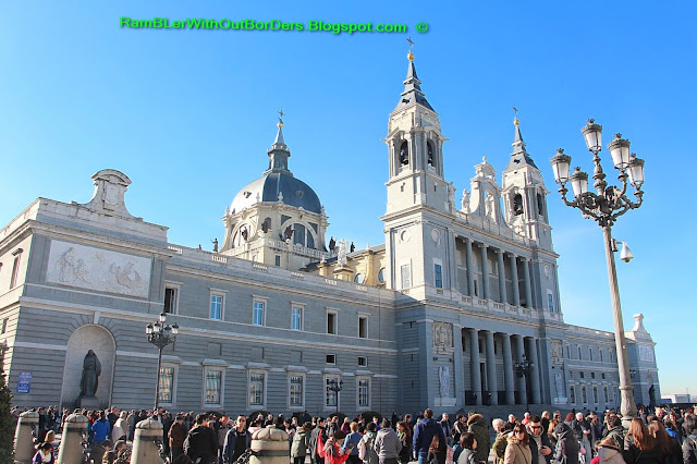 Facade, Almudena Cathedral, Madrid, Spain