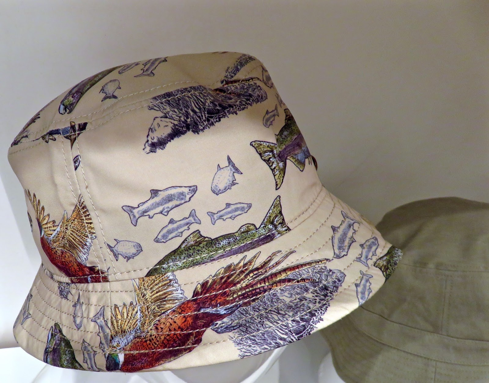 DANNY -this bucket style hat is dorky retro hip-with fish print in cool  microfiber 3cfd55538d01