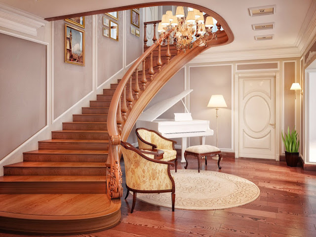 Cầu thang cho biệt thự - mẫu số 1