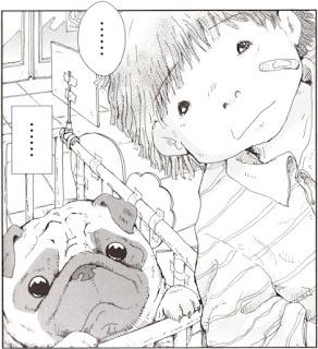 """Viñeta del cómic """"El perro enamorado de las estrellas"""", de Takashi Murakami"""