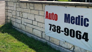 San Marcos Texas AutoMedic Entrance Banner