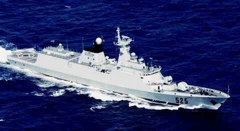 Gambar kapal perang Jiangkai Class - 054 paling tangguh milik Tiongkok