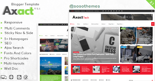 Download Free Axact Responsive Blogger Theme v.2.2 – Themeforest