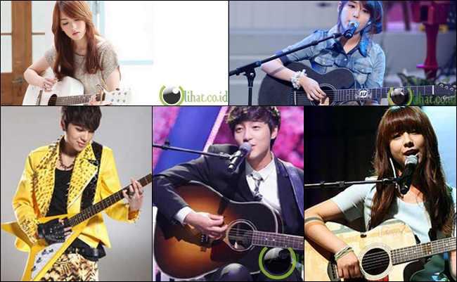 5 Musisi Solo Kpop yang sering Membawa Gitar saat Manggung