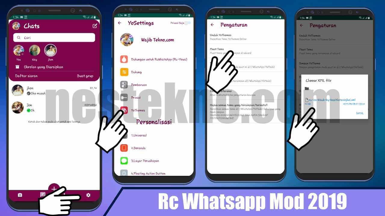Download Tema Whatsapp IOS xml Warna Putih (Theme Original