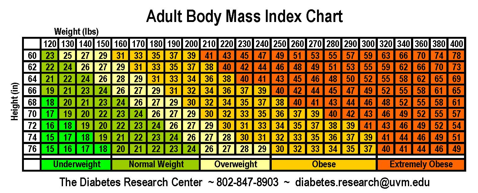 Check BMI Chart and Calculate your BMI (Body Mass Index ...