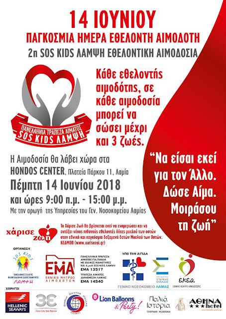 2η SOS KIDS ΛΑΜΨΗ - ΕΘΕΛΟΝΤΙΚΗ ΑΙΜΟΔΟΣΙΑ