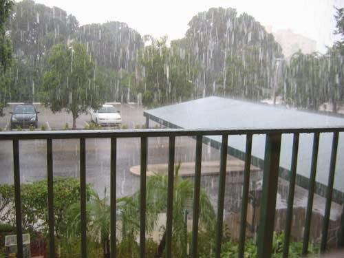 Here comes the rain again.