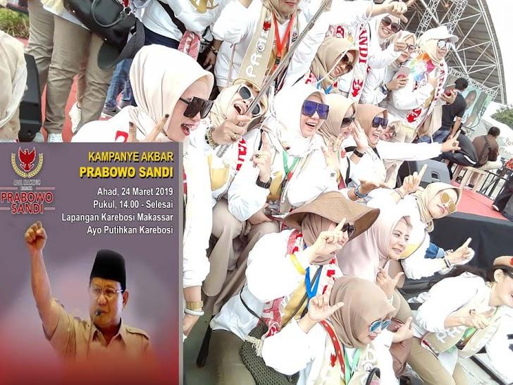 Inilah Wanita Kuat dan Bersatu, Bersemangat, Memenangkan Capres Prabowo No Urut – 02  di Pilpres 2019