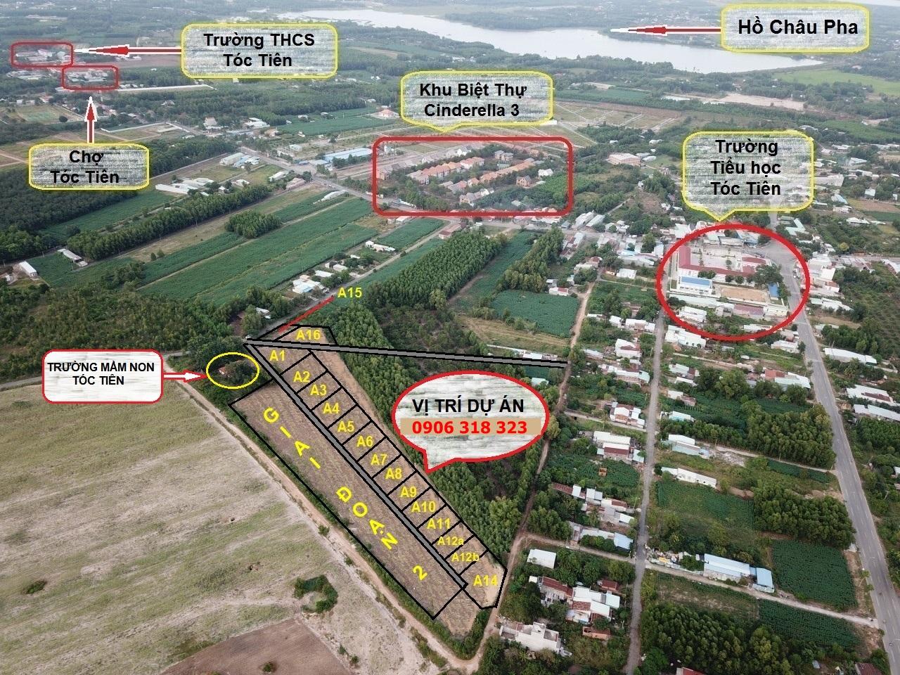 Hình ảnh Flycam đất Tóc Tiên Phú Mỹ Bà Rịa