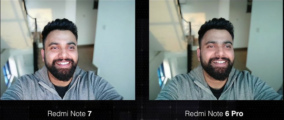 Xiaomi Redmi Note 7 vs Redmi Note 6 Pro front facing camera comparison