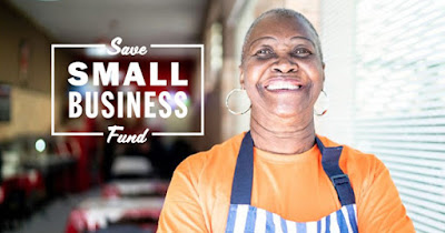 Woman recipient of a Save Small Business Fund grant