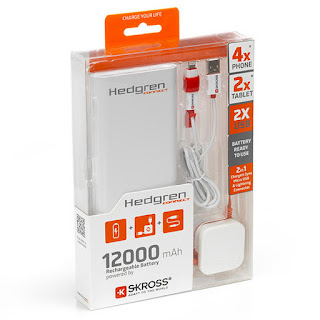 HEDGREN Power Bank W/ Dual Cord