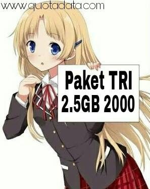Pada kesempatan kali ini atau pada ulasan di artikel ini ane akan membagikan cara membeli Cara Daftar Paket Tri 2.5GB 2000 Rupiah 2018 Terbaru