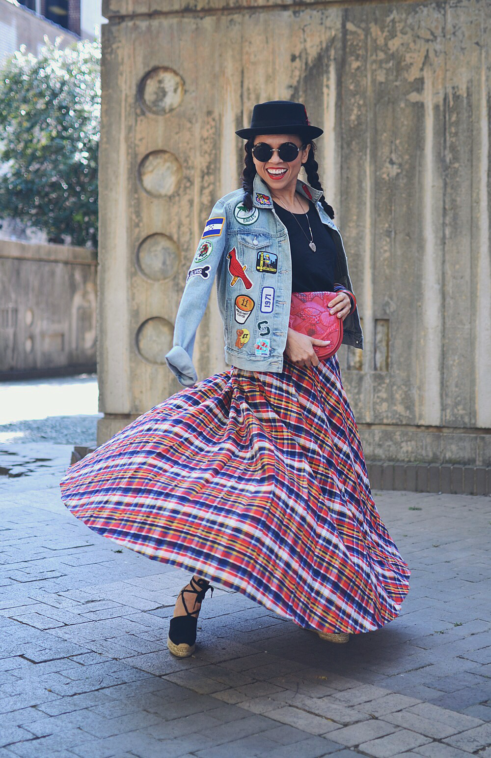Eclectic outfit street style