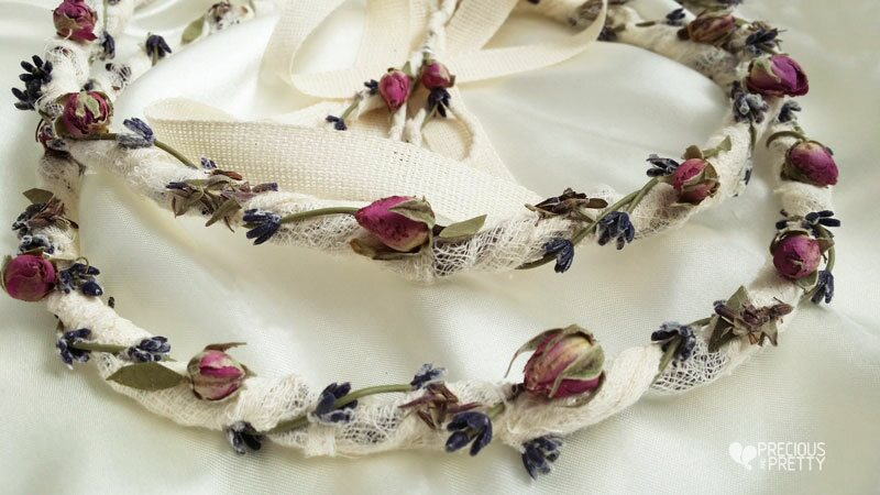 Wedding crowns with lavender stefana from Greece