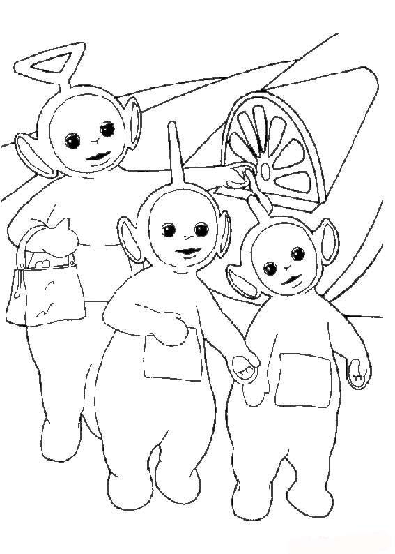 New Teletubbies Coloring Pages To Kids | Cartoon Coloring ...
