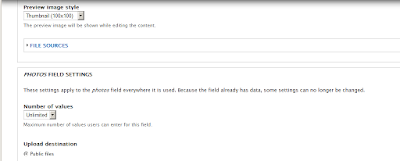 Setting Pluload untuk content type baru
