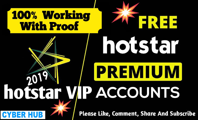 Hotstar Premium Account Free 100% Working With Proof
