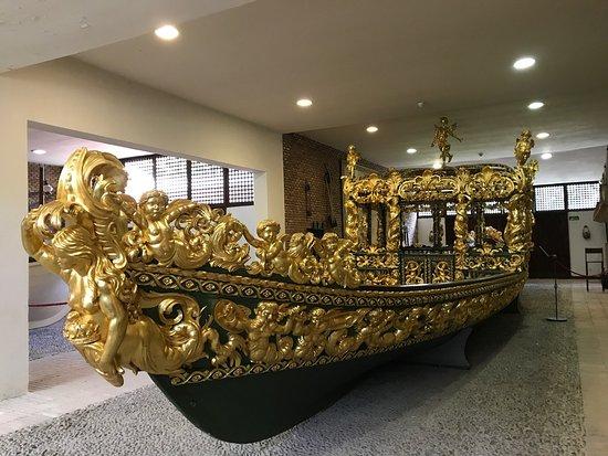 Fotografia de falua del museo de faluas reales. Aranjuez. Madrid