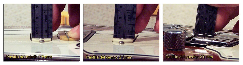 Altura de las Pastillas en una Guitarra Eléctrica HSS (Cuerda Fina)