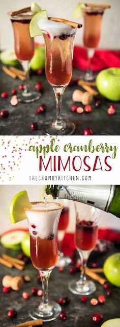 APPLE CRANBERRY MIMOSAS #CRANBERRYWEEK