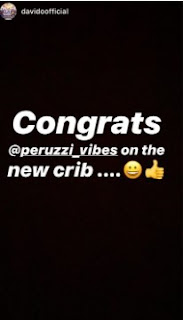 Video: Peruzzi acquires new mansion, Davido congratulates him