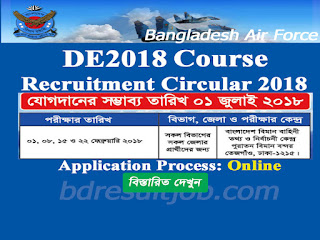 ED2018 - Bangladesh Air Force Cadet Recruitment Circular 2018