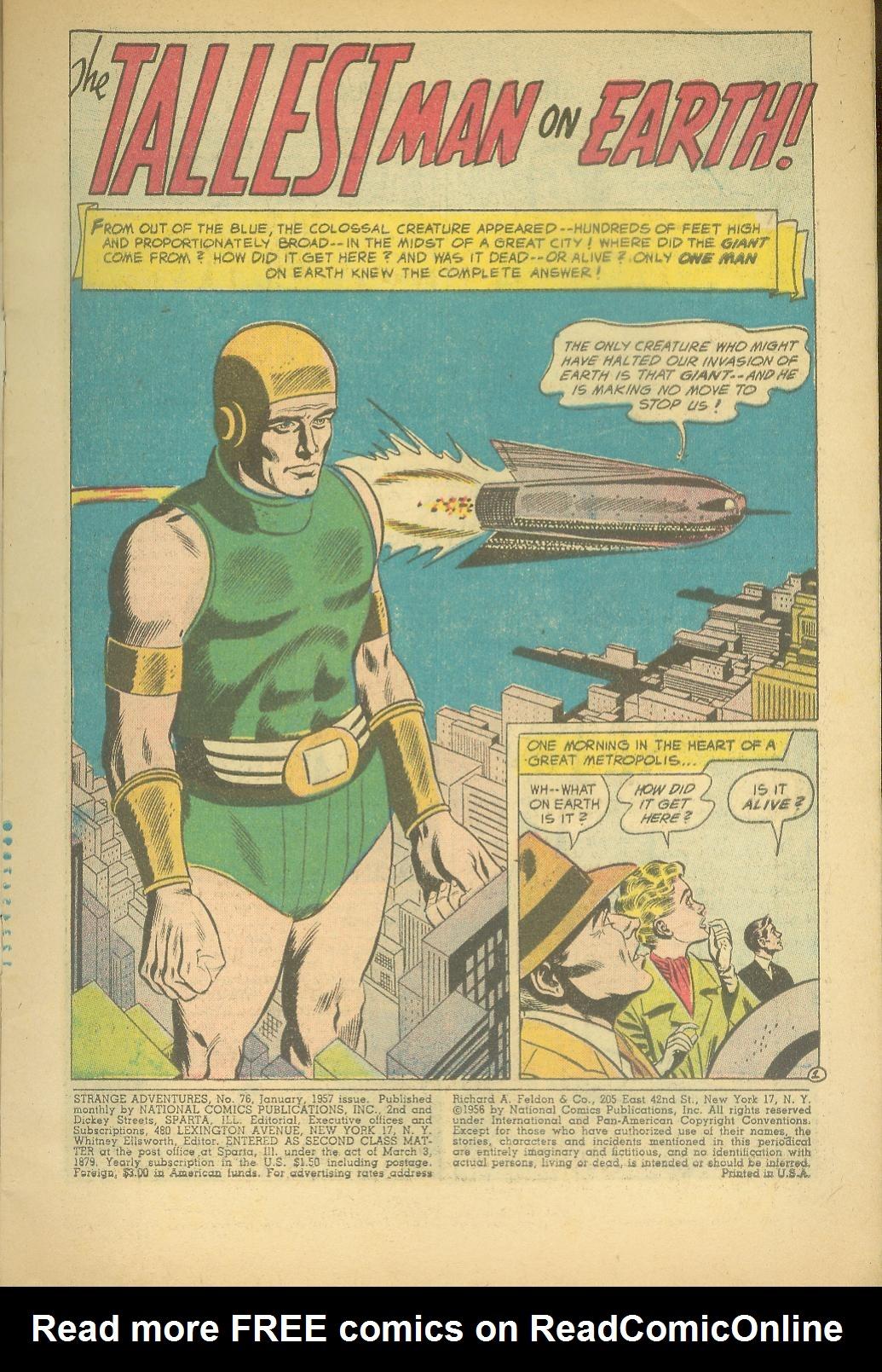 Strange Adventures (1950) issue 76 - Page 3