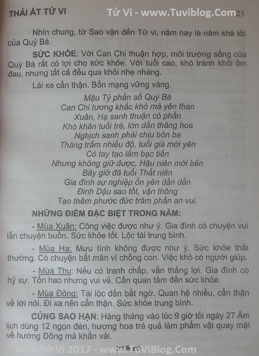Xem tu vi 2017 Mau Ty 1948