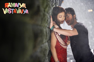 Shruti Hassan and Girish Kumar In Ramaiya Vastavaiya Romantic Wallpapers