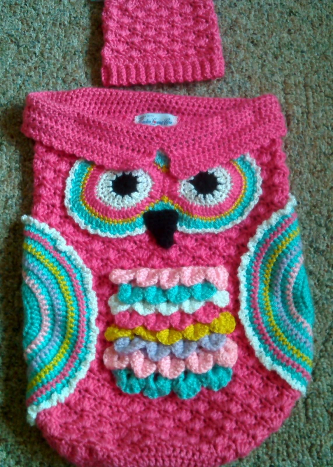 Free Crochet Pattern For Owl Cocoon