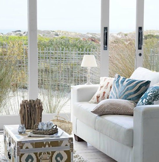 Coastal living room with a view