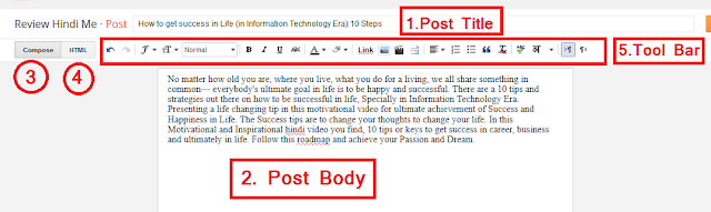 How to write New Post on Blogger Blogspot