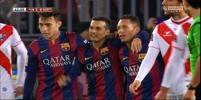 Copa Del Rey : Barcelona 8 vs 1 Huesca 17-12-2014