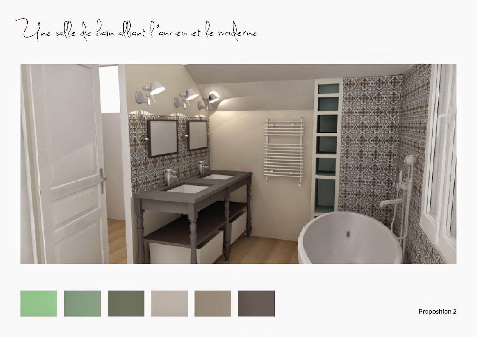 Adc l 39 atelier d 39 c t am nagement int rieur design d for Carreau salle de bain gris