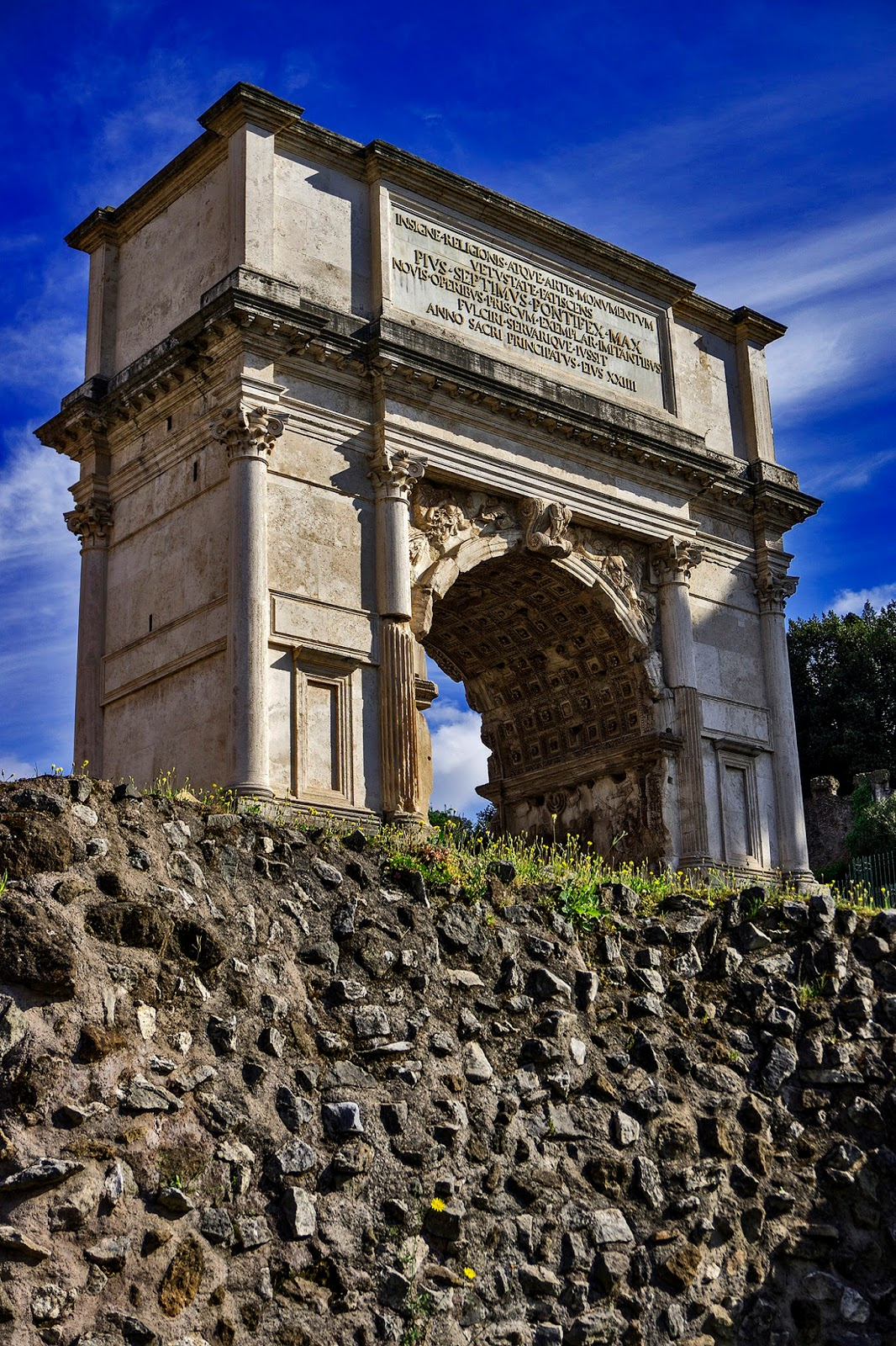Arch of Titus at the Forum in Rome, Italy