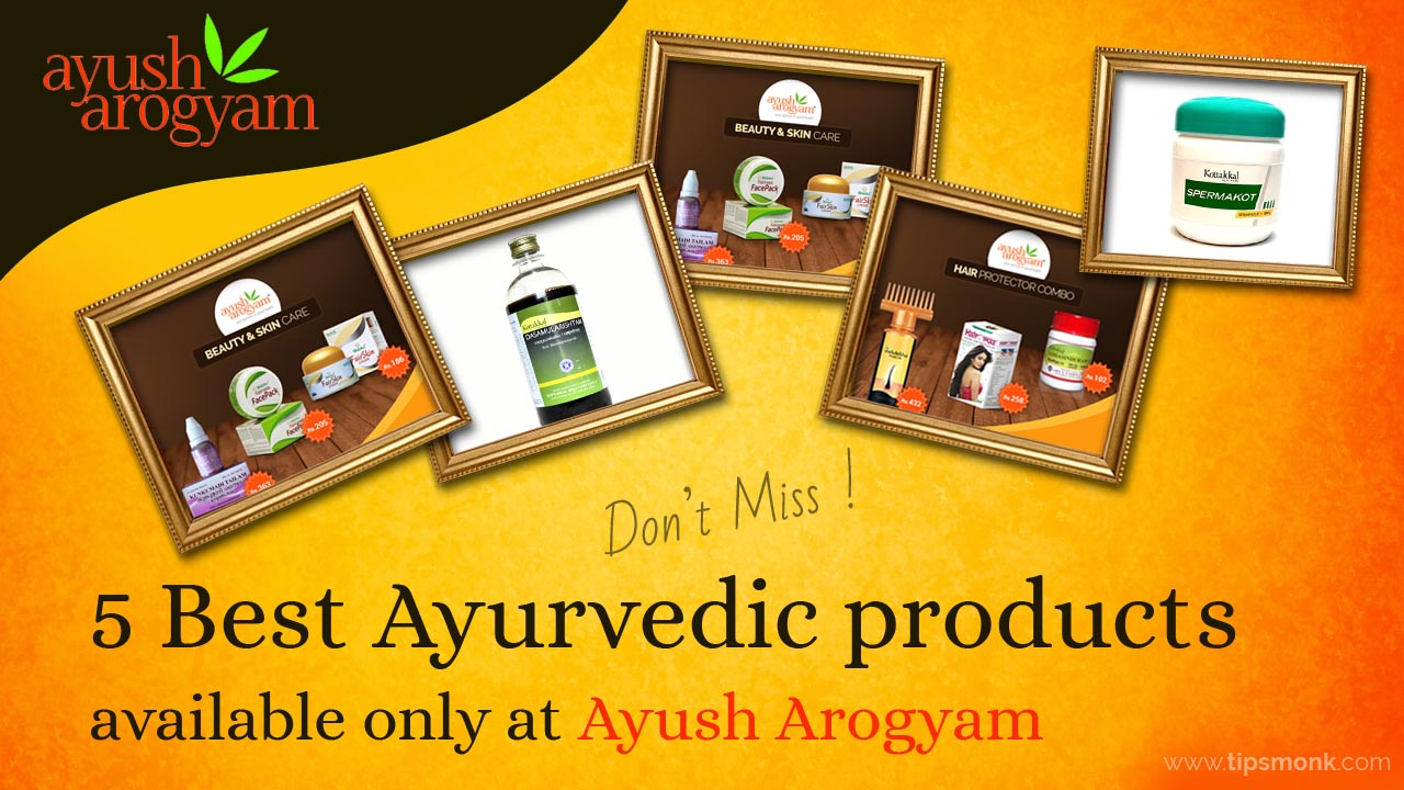 5 Best  Ayurvedic products available only at Ayush Arogyam