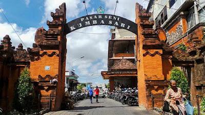 Gapura Pasar Kumbasari tempat masuk pasar kumbasari