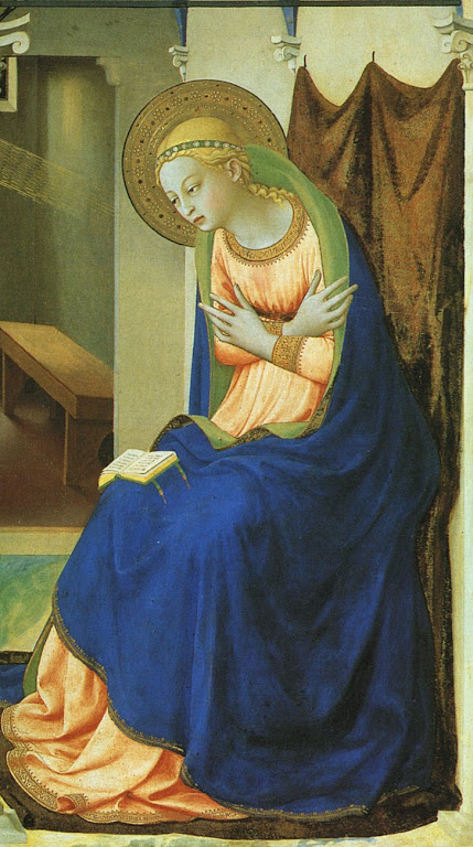 Anunciação. Fra Angelico. Museu do Prado, Madri.